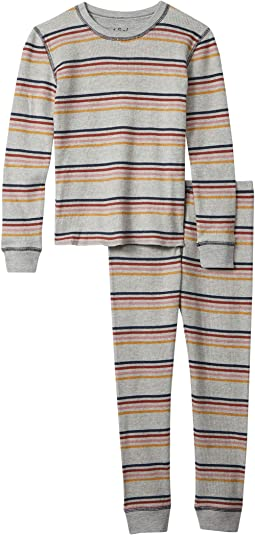 Retro Stripe Revival Thermal Two-Piece Jammie Set (Toddler/Little Kids/Big Kids)