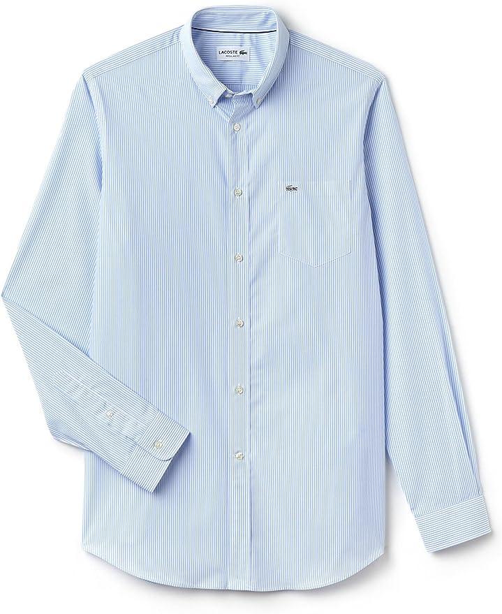 Lacoste Camisa CH3969-R6F Celeste. 40 Azul: Amazon.es ...