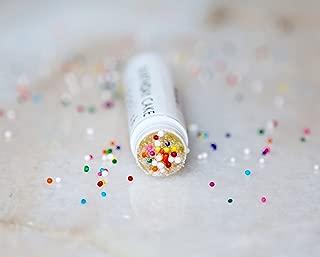Birthday Cake Lip Scrub-Natural Vanilla Cupcake Batter Flavor-Polish & Exfoliate with Gentle Fine Sugar
