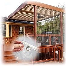 JIANFEI Transparante waterdichte dekzeildoek, outdoor pvc met oogjes winddicht warm houden, zware anti-scheur zachte film ...