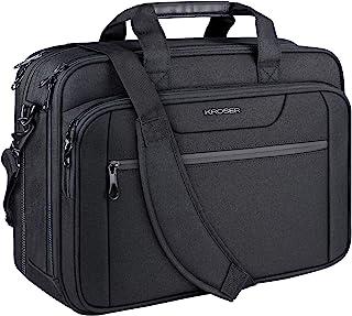 "KROSER 18"" Laptop Bag Expandable Laptop Briefcase Fits Up to 17.3 Inch Laptop Water-Repellent Shoulder Messenger Bag Compu..."