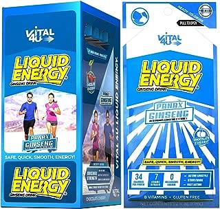 Vital 4U® Liquid Energy - Ginseng Energy Shot, Chocolate Cherry Flavor, 24 Count