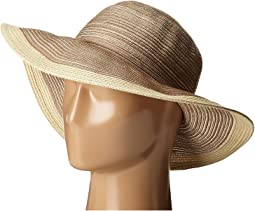 MXM1016 Sun Brim Hat with Self Tie and Contrast Edge