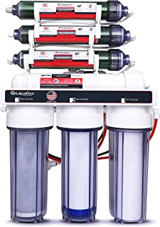 LiquaGen - Heavy Duty & High Capacity 7-Stage Aquarium Reef and Deionization Reverse Osmosis Water Filter Systems RO/DI | 0 PPM - 150 GPD
