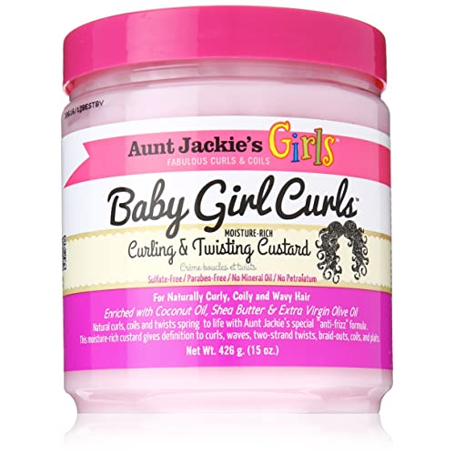 Aunt Jackies Baby Girl Curls Curling and Twisting Custard 15oz by Aunt Jackies
