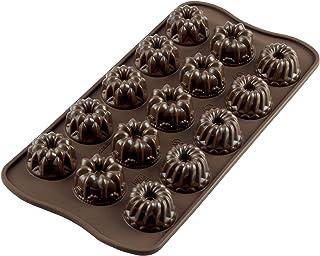Silikomart SCG19 Platinum Silicone Fantasia Chocolate Mold, Brown (22.119.77.0065)