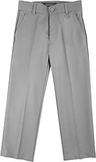 Luca Gabriel Modern Fit Boys' Adjustable Waist Flat Front Dress Pant