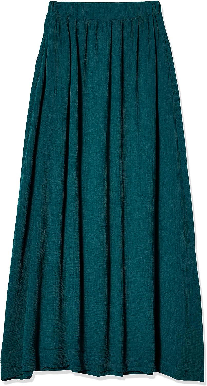 Three Dots Women's Double Gauze High Waisted Skirt