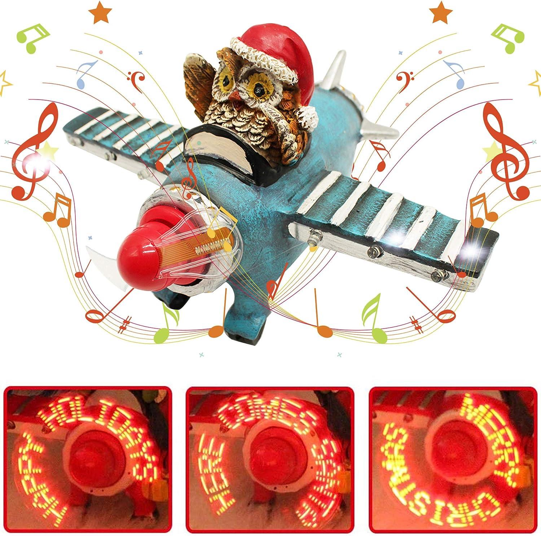 X-PREK Christmas Collectible Figurine Popular overseas LED Santa Airplane Genuine Free Shipping Musical