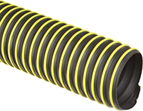 Flexadux T-7W Thermoplastic Rubber Duct Hose, Black, 6