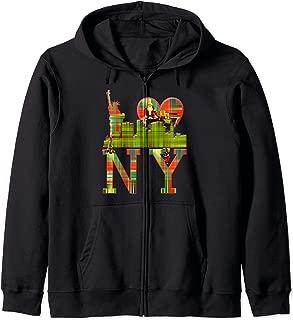 I love NY New York, Ugly Christmas Wear Zip Hoodie