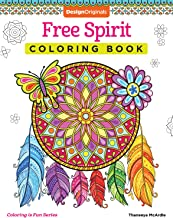 Free Spirit كتاب تلوين (coloring هو تصميم مرح) (الأصلية) 32غريبة الأطوار & والمظهر الأنشطة الفنية من thaneeya mcardle على عالي الجودة ، extra-thick مثقبة صفحات تقاوم bleed-through