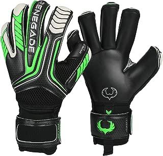 Renegade GK Vulcan Goalie Gloves (Sizes 6-11, 3 Styles, Level 3) Pro-Tek Fingersaves, 4mm Hyper Grip | Excellent Goalkeeper Glove for Higher Level Play | Superior Grip & Protection | Based in The USA