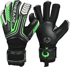 Renegade GK Vulcan Goalie Gloves (Sizes 6-11, 3 Styles, Level 3) Pro-Tek Fingersaves, 4mm Hyper Grip | Excellent Goalkeeper Glove for Higher Level Play | Superior Grip-Protection