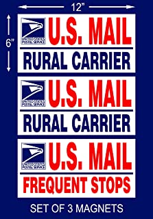 Magnetic Signs Set of 3 U.S. Mail Delivery Rural Delivery Carrier Magnet 6