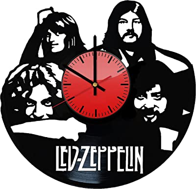 Led Zeppelin Music Band Vinyl Wall Clock - Original Gift Idea for Him or Her -