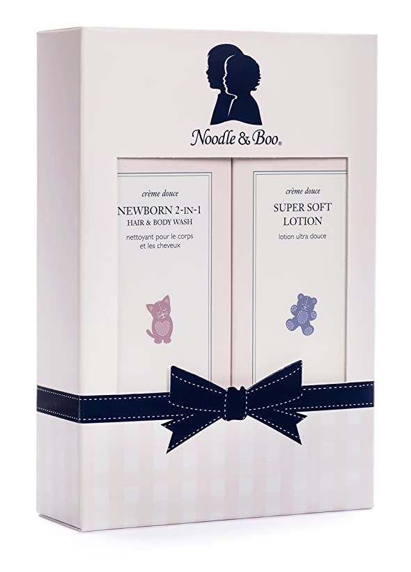 オーナメント消えるに関してヌードル&ブー Newborn Gift Set: Newborn 2-in-1 Hair & Body Wash 237ml/8oz + Super Soft Lotion - For Face & Body 237ml/8oz 2pc並行輸入品
