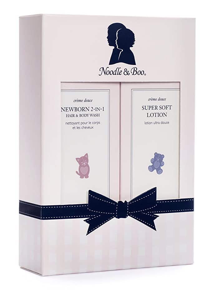 Noodle & Boo Newborn Gift Set for Baby; Newborn 2-in-1 Hair & Body Wash, Super Soft Baby Lotion