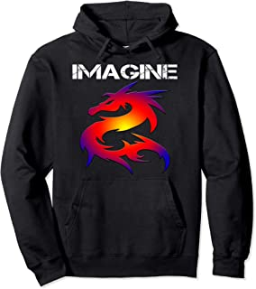 IMAGINE Fantasy Dragon Style Pullover Hoodie Great For Gift