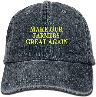 LELE Make Our Farmers Great Again Cotton Denim Cap Printed Unisex Boy Girl Youth Women Men Adult Baseball Hat