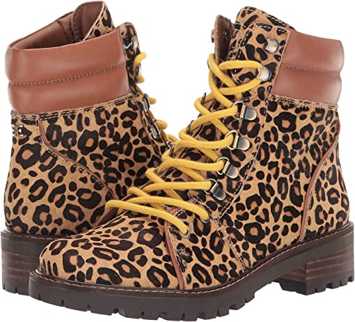 New Nude/Whiskey Baby Leopard Brahma Hair/Bally Premium Leather