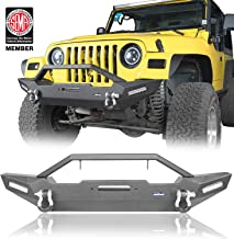u-Box Jeep TJ Front Bumper w/Built-in Winch Plate for 97-06 Jeep Wrangler TJ