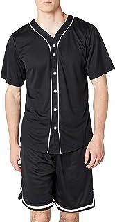 Urban Classics Mesh Jersey Camiseta Baseball con Botones a Presión para Hombre