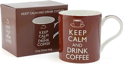 Keep Calm and Drink Coffee Fine China Mug–Boxed Mug
