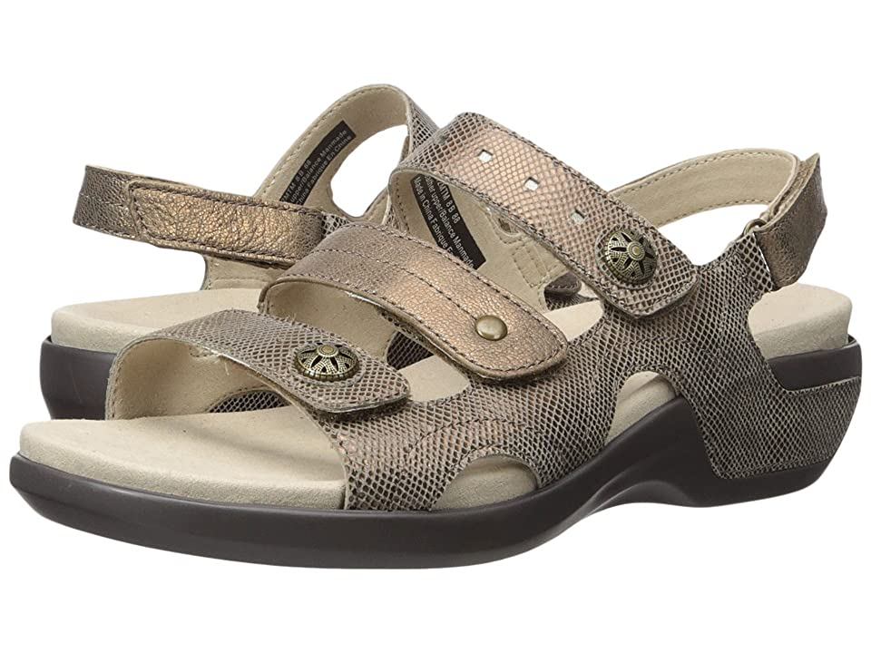 Aravon PC Three Strap (Metallic Taupe) Women