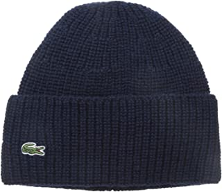 Lacoste Men's Rib Knitted Contrast Beanie