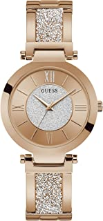 Guess Womens Quartz Watch, Analog Display and Stainless Steel Strap - W1288L3