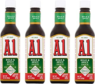 A.1. Bold & Spicy Sauce, 10 Ounce Glass Bottle (Pack of 4)