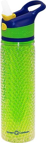 Grün Kantine Double Wand Tritan Kunststoff Hydration Flasche Crackle Gel mit Sippy Cap Perlen Gel 19 Ounce blau Grün