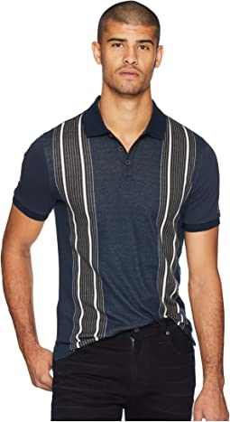 Short Sleeve Vertical Stripe Polo