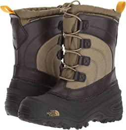 View More Like This The North Face Kids - Alpenglow IV (Toddler/Little Kid/Big Kid) & The North Face Nse Tent Bootie Iv Moonlight Ivory Lace Classic ...
