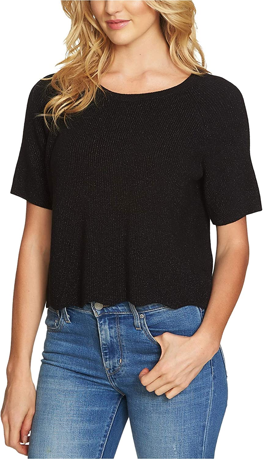 1.STATE Womens Cotton Cropped Pullover Sweater