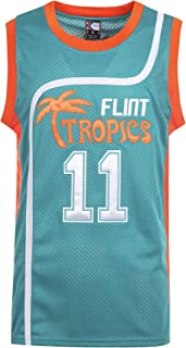 MOLPE Men's Monix 11Flint Tropics Basketball Jersey S-XXXL Green, Stitched Name and Numbers