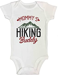 Funny Saying Kids Bodysuits Mommys Hiking Buddy - Royaltee Trendy Baby Rompers