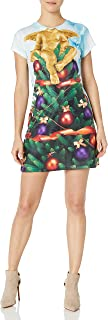 Faux Real Women's Tree Ugly Christmas Dress
