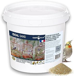 Chick'N Deluxe® Ideal Sand 5Kg. Sable Marin pour Fond de Cage à Oiseaux. Enrichi de coquilles d'huitres broyées et aromati...
