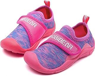 WOUEOI أحذية مائية للأطفال الأولاد الصغار أحذية سريعة الجفاف الفتيات الرياضة شاطئ السباحة الصنادل للأطفال الصغار