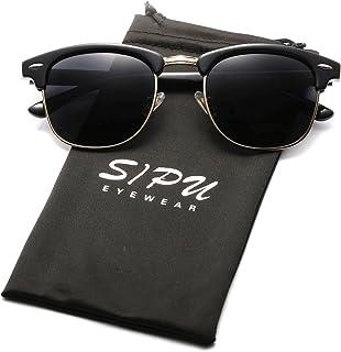 SIPU Polarized Sunglasses Semi Rimless Sun Glasses for Men and Women Eyewear
