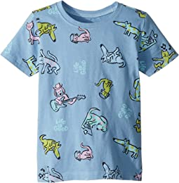 Life is Good Kids Raining Cats and Dogs Crusher Tee (Toddler)