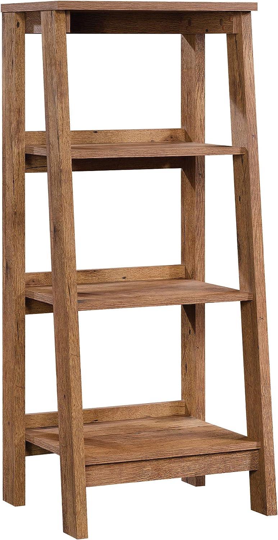 Sauder 424123 Trestle 3-Shelf Bookcase L  19.06  x W  16.61  x H  45.08  Vintage Oak