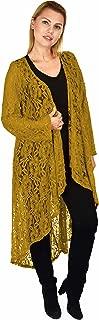 Women Plus Size High Low Open Front Duster Cardigan Jacket