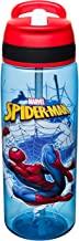 Zak Designs Marvel Comics Water Bottle with Built-In Carrying Loop, Durable Water Bottle Has Wide Mouth and Break Resistant Design (25oz, Spider-Man, Tritan, BPA-Free)