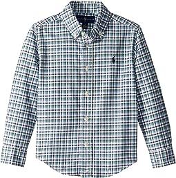 Plaid Cotton Oxford Shirt (Little Kids/Big Kids)