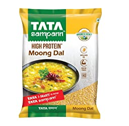 Tata SampannMoong Dal Split Unpolished, 1kg