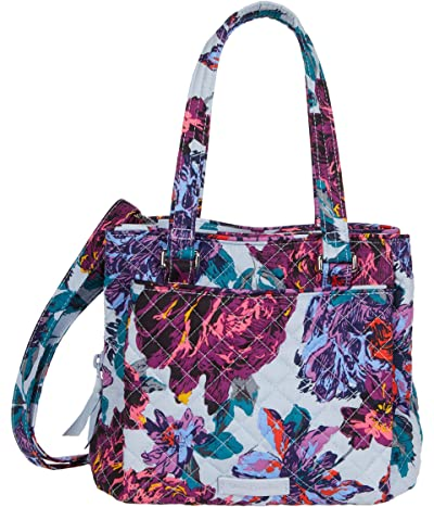 Vera Bradley Mini Multi-Compartment Crossbody (Neon Blooms) Handbags