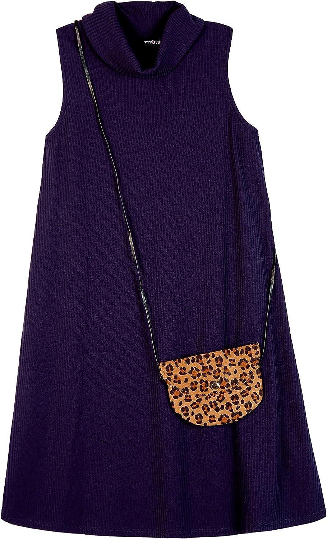 Amy Byer Girls' Mock Neck Sleeveless Shift Dress
